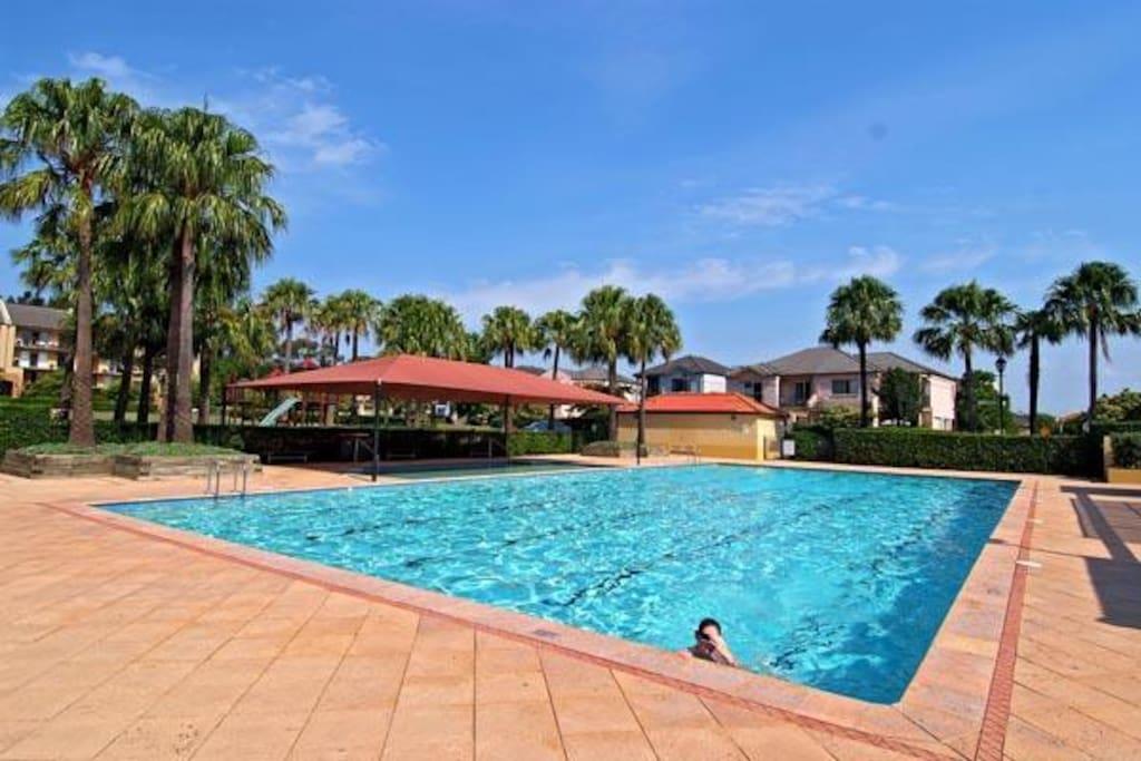 community swimming pool for fun