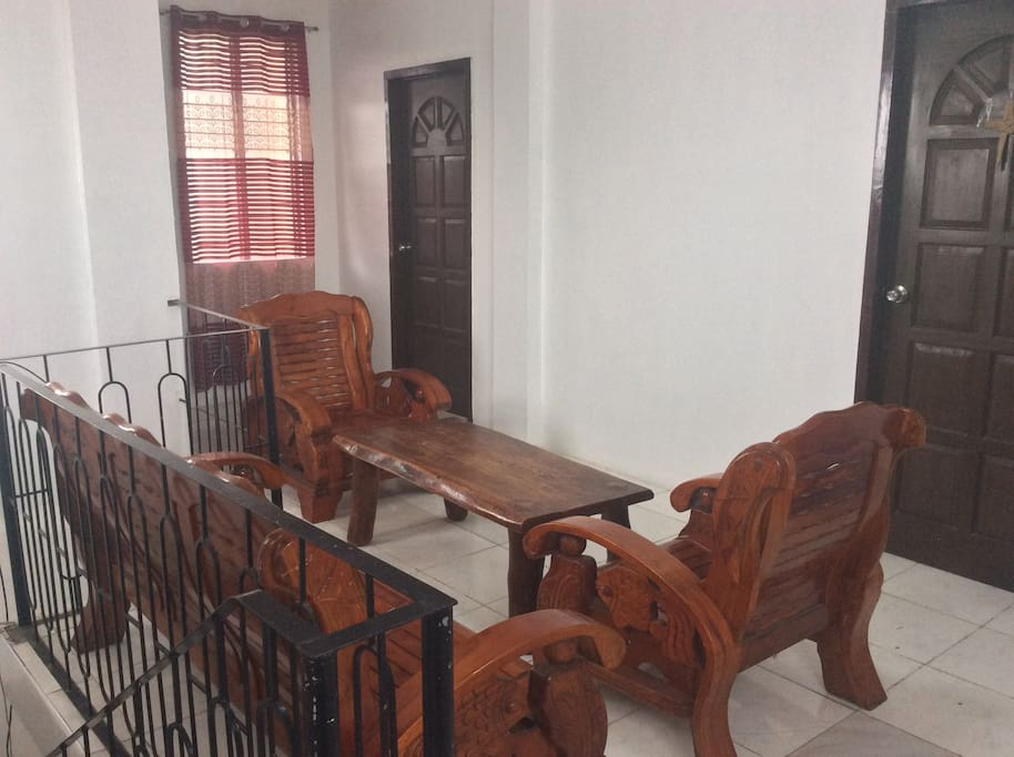 2nd Floor Sala with solid wooden furnitures.