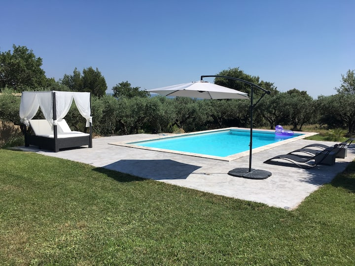 Villa with pool in the heart of an olive grove
