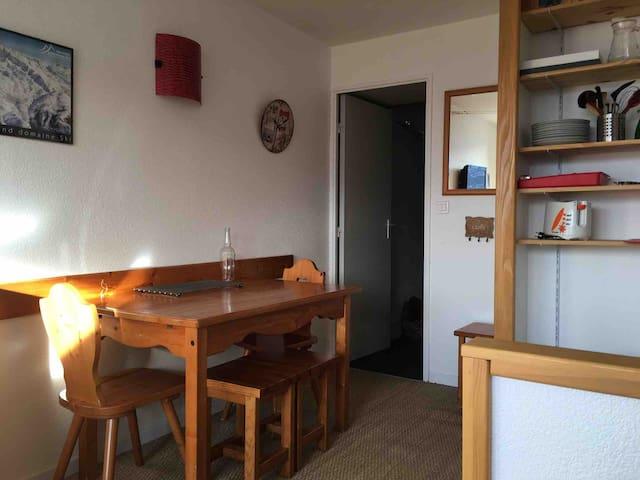 Appartement 2 pièces, 4 personnes, les Bergers