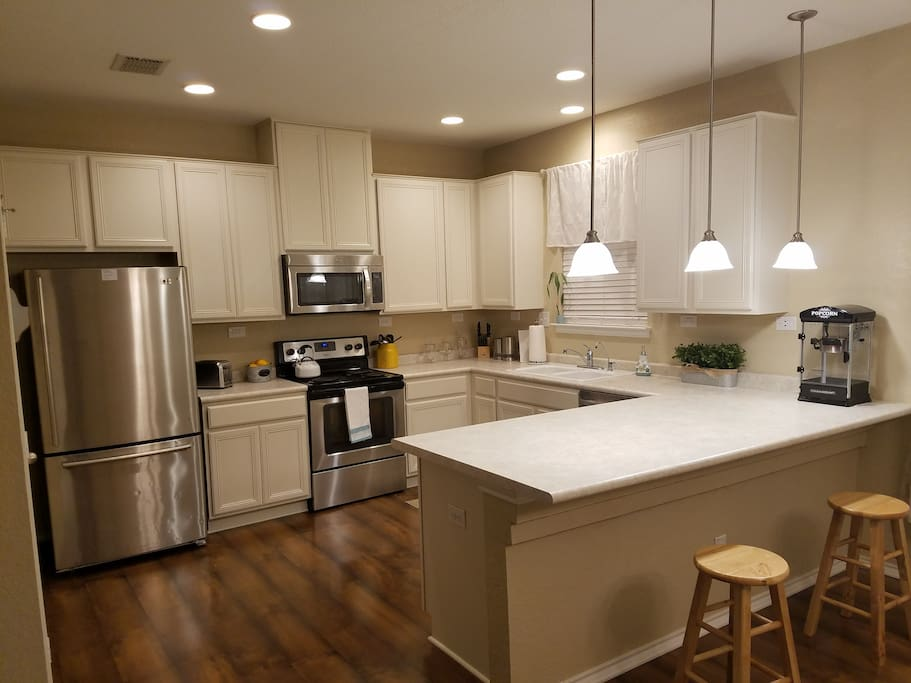 Modern Kitchen for your use. Available Ice maker