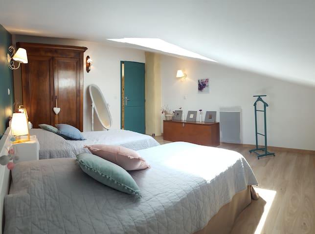Chambre avec 2 lits simples jumelables