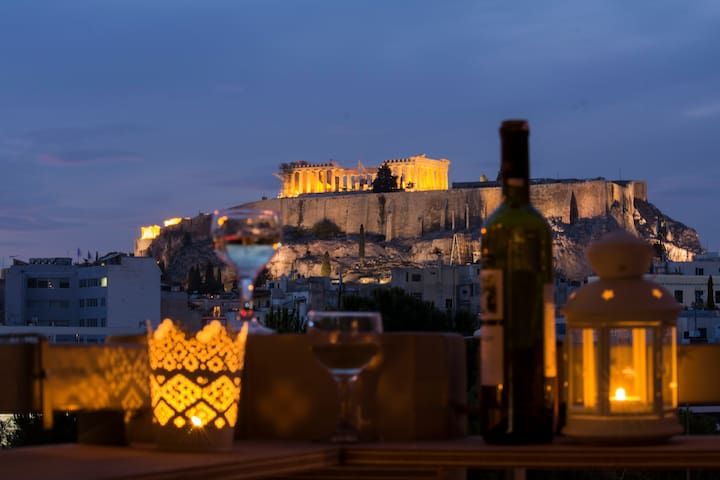 Superb Acropolis View From A Central Brand New Apt