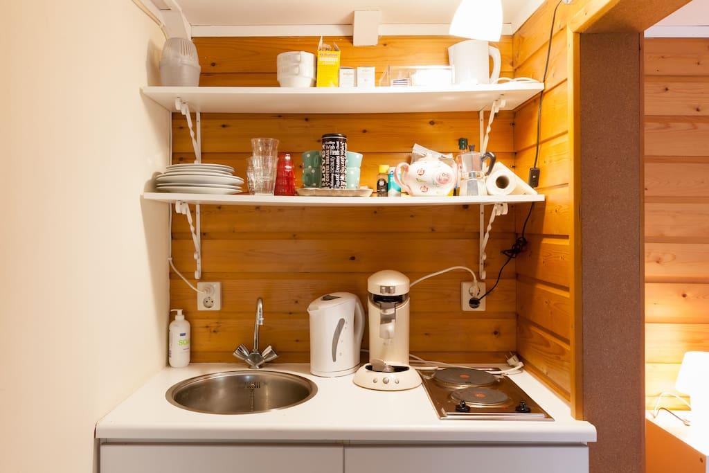 keukenblok met inductie fornuis.