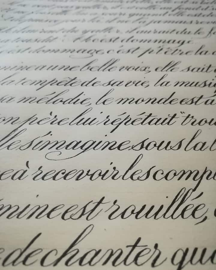 sample of copperplate