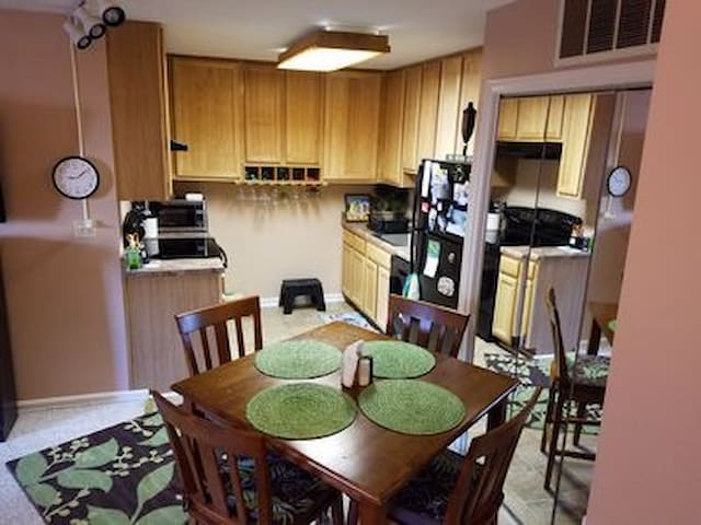 Have your morning coffee in the Kitchen/Dining Area