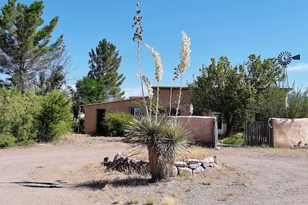 Room in straw bale house next to Gila Ntl Forest