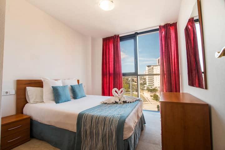 Apartamento 2 dormitorios en Benidorm.Atrium Plaza