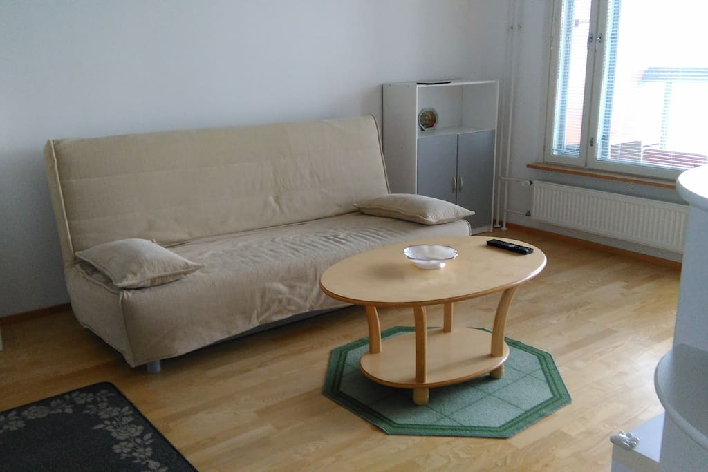 Olohuone,  Living room with sofa bed for 2 persons