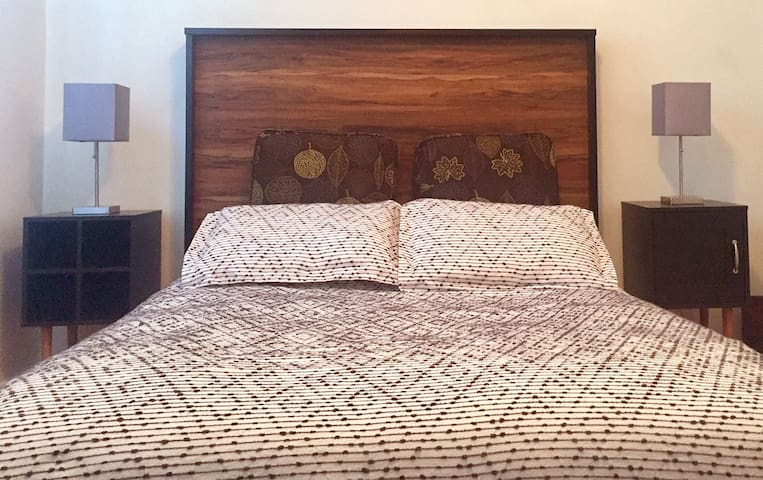 Queen Size Bedroom on 2nd Level in Charming 2-Flat