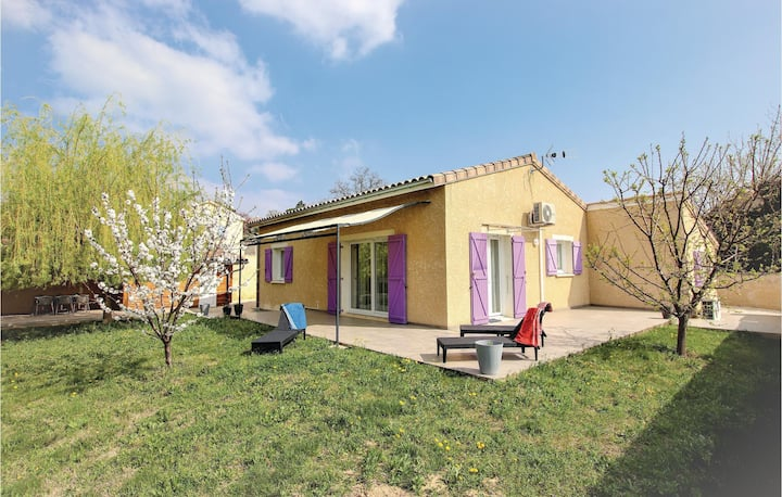 Nice home in St Marcel d'Ardèche with Outdoor swimming pool, Outdoor swimming pool and 3 Bedrooms