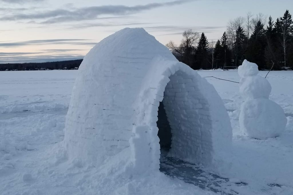 Frozen over lake