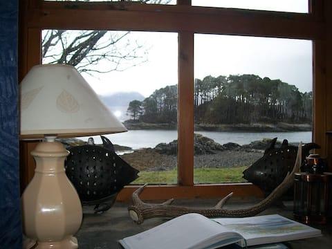 Malá rybárska plážová chata, polovica budovy.