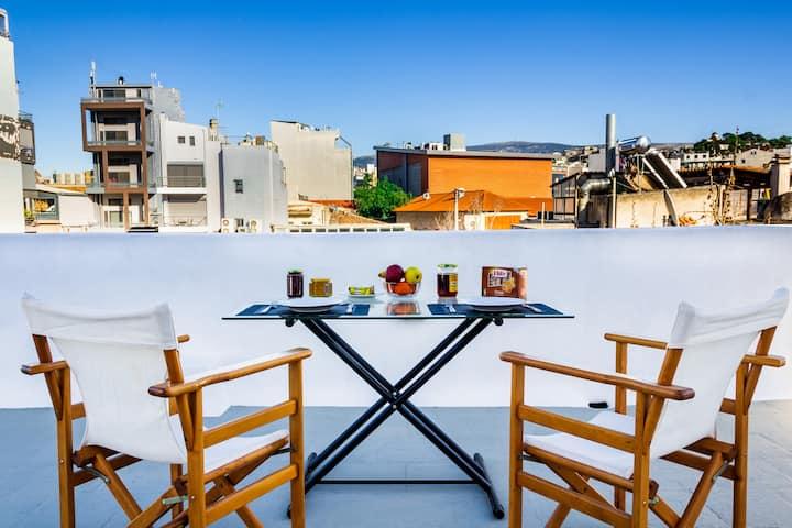 {Acropolis View} Modern Rooftop APT 1' metro