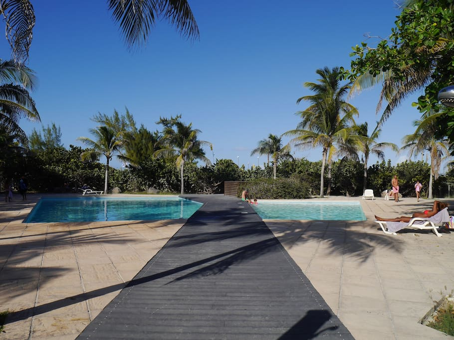 The pool at Côté Mer...the beach is just behind!