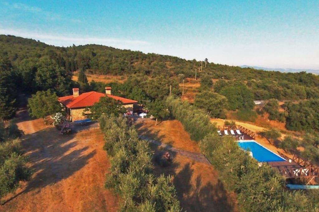 Foto panoramica Casale Le Corniole