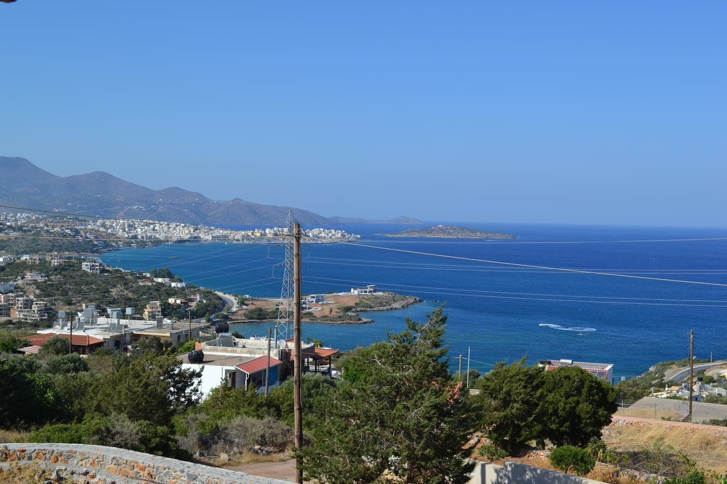 Magnificent sea, town and mountain views