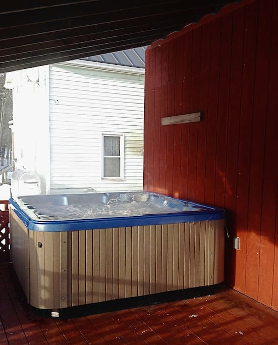 Hot Tub on covered back porch
