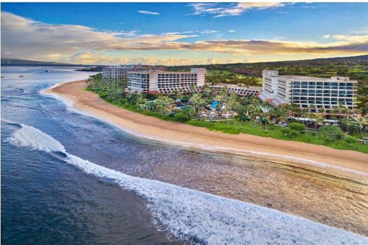 Double unit sleeps 8+ Villa on the beach in Maui.