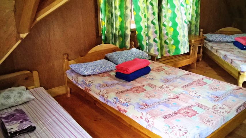 Cozy Pink House, RM room - Sagada - Natuur/eco-lodge