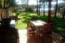 Mutfak alanı ve bahçe