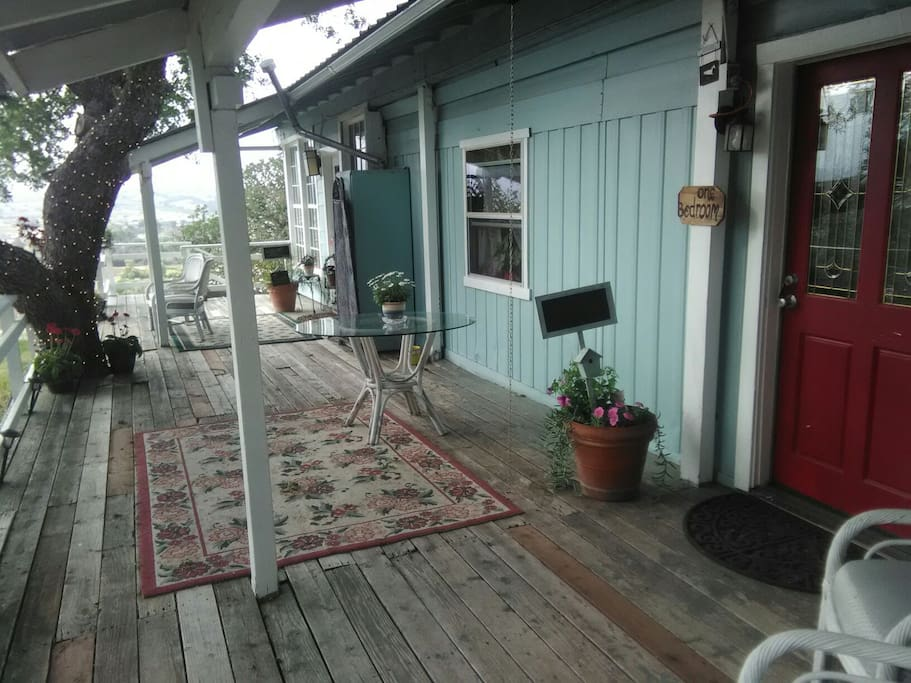 the porch to relax and watch the sunset.
