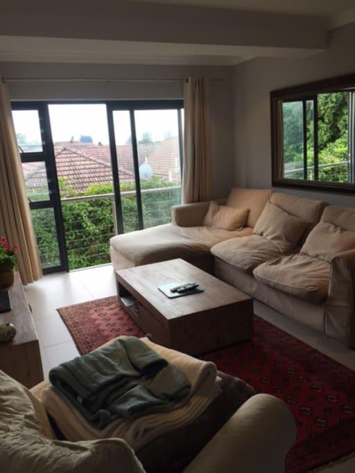 Comfortable open-plan lounge
