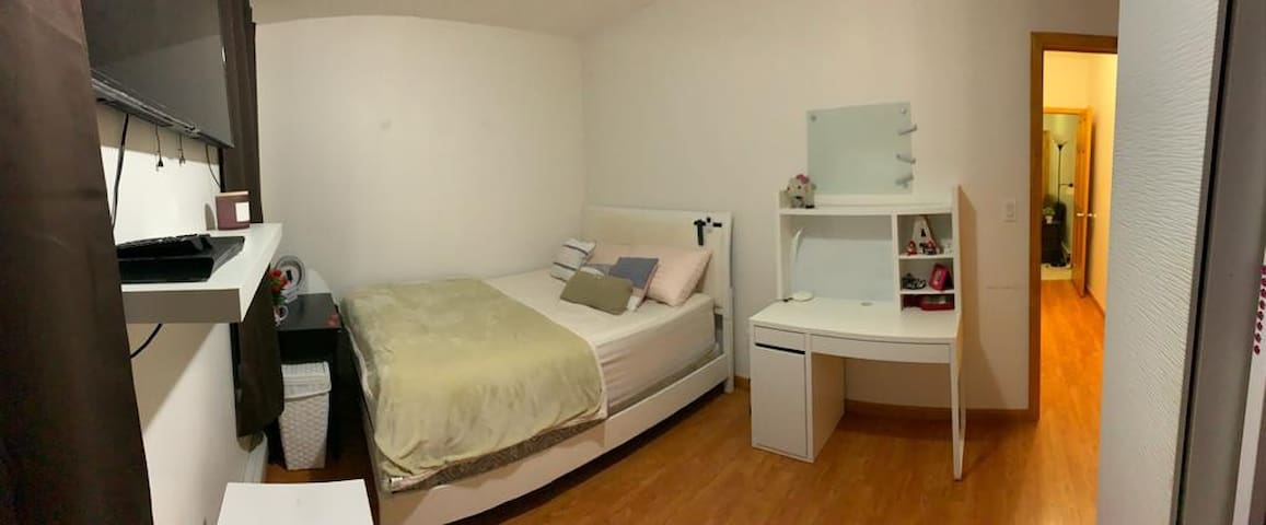 Fully furnished room in newly renovated apartment.