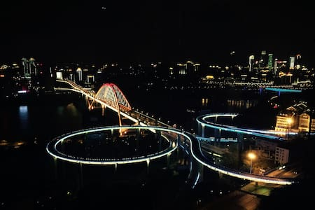 270度大阳台江景房(1),白天可以看江景,晚上可以看夜景 - Chongqing - Wohnung