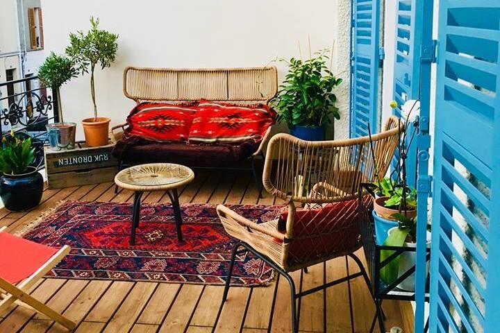 -Grande chambre avec terrasse privative-