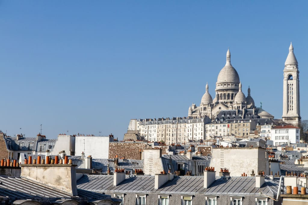 Direct view of the Sacré Choeur