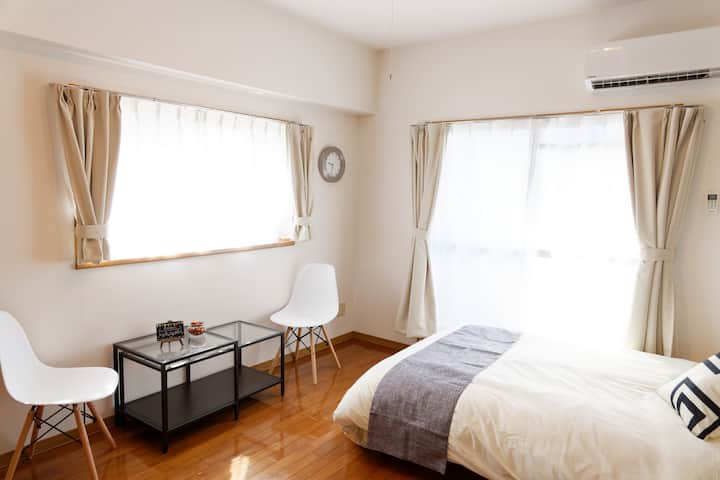 G71☆Cool☆3min walk from metro☆Wi-Fi Free☆