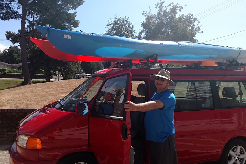 Two double kayaks available for rent, including transportation to and from launch sites.