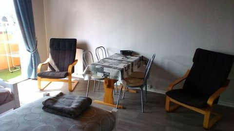 Studio avec balcon plein sud