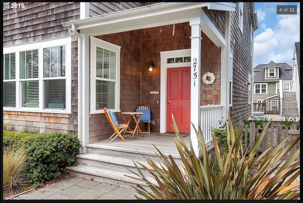 Welcoming front porch.