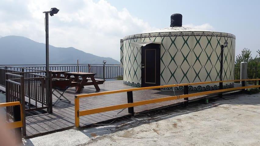 灥流-清境唯一蒙古包 / 幸福美景樓中樓蒙古包