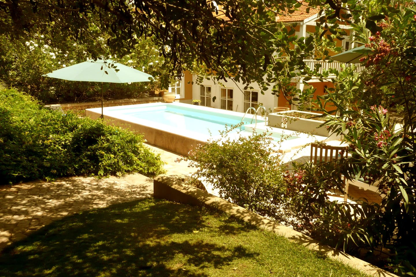 View from Garden to the Pool