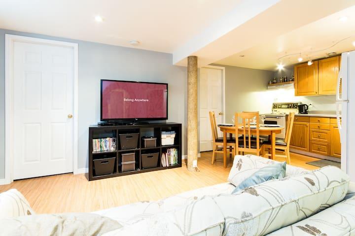 1 Bedroom + pullout - Basement Apt. - Burlington - Apartament
