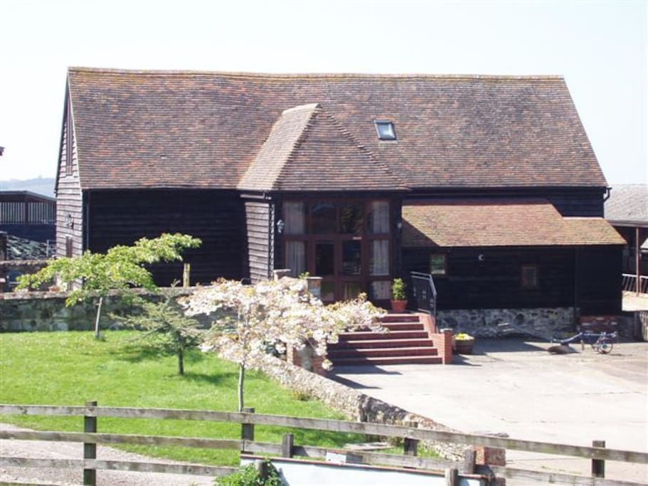 Exterior of The Granary showing entrance