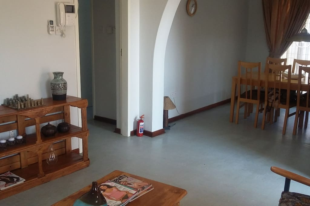 Lounge and dining room with airco