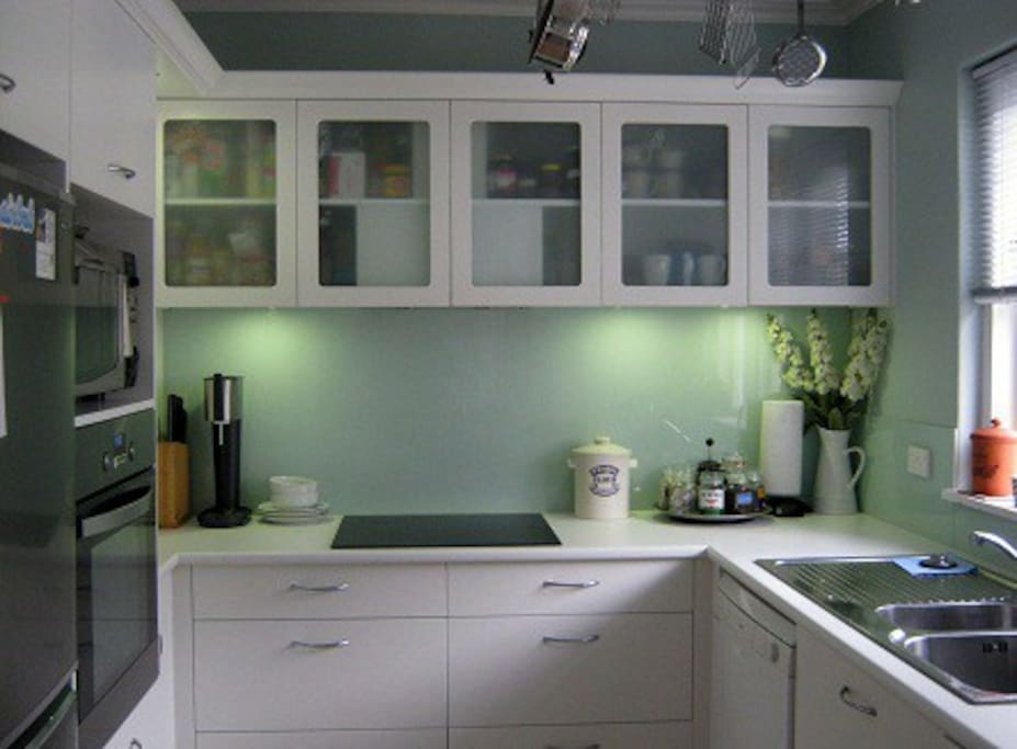 Kitchen area where you are most welcome to make your coffee/tea.... 24 hours!