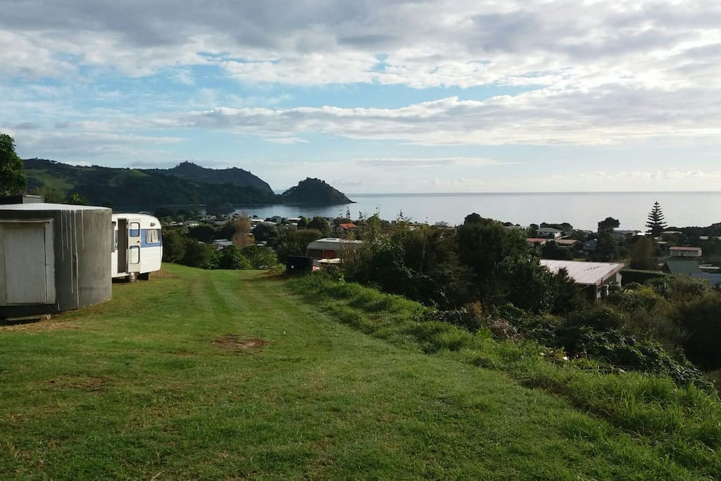 The 'TOP CAMP' site over looking Whangapoua Beach