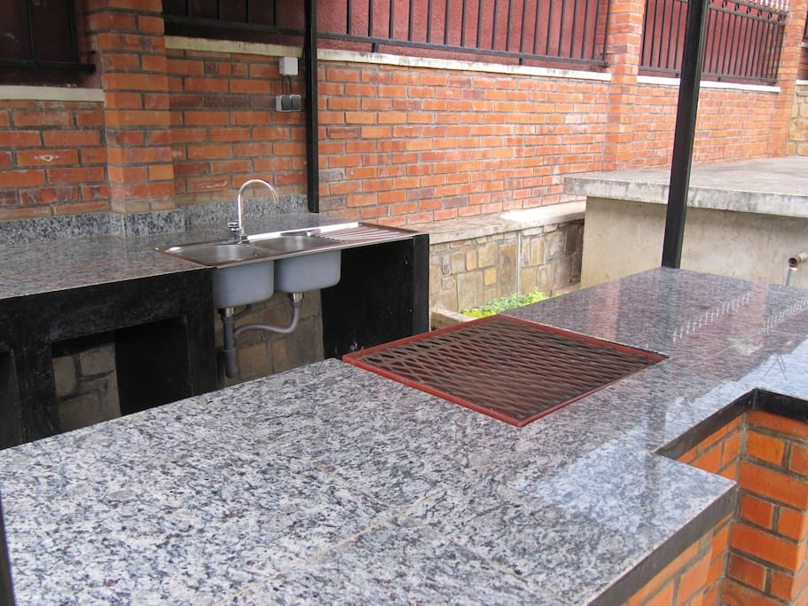 outside grill area