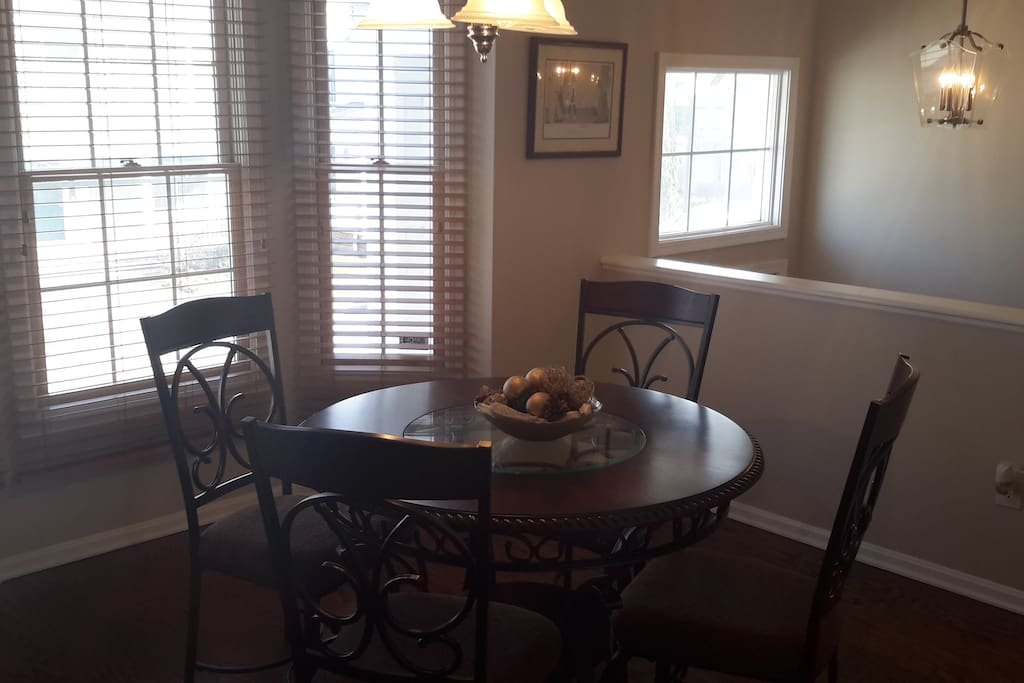 Extra dinning space adjacent to kitchen