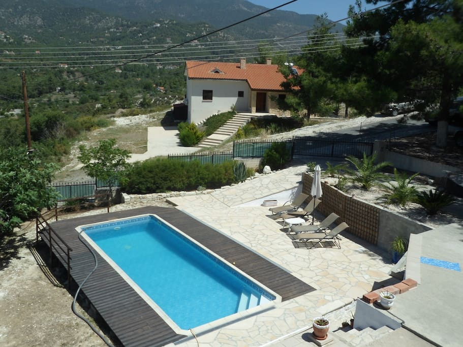 Pool area and    Troodos View 2/3
