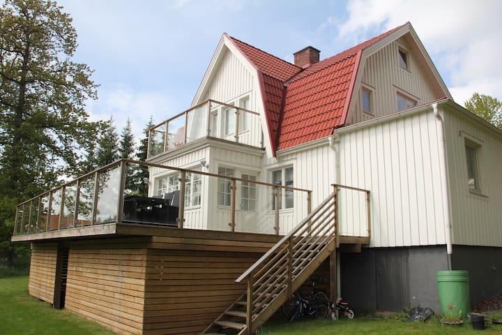 Lantligt hus, 150 meter till sjö, 15 min Göteborg - Lerum - Rumah
