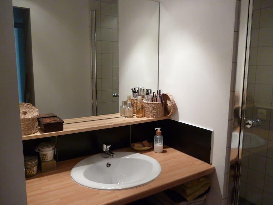 Coin salle de bains - douche italienne