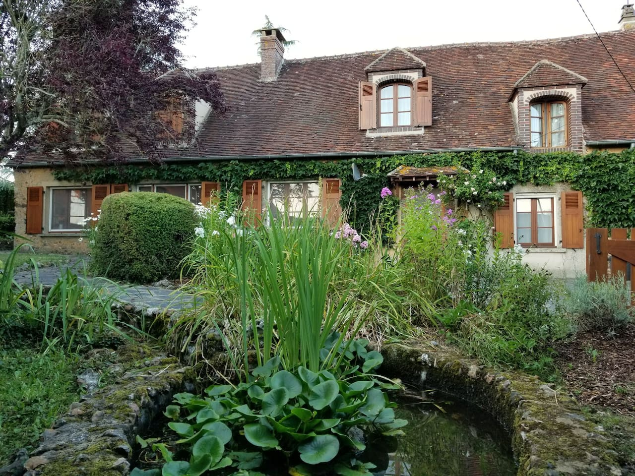 The House and the small pond in front
