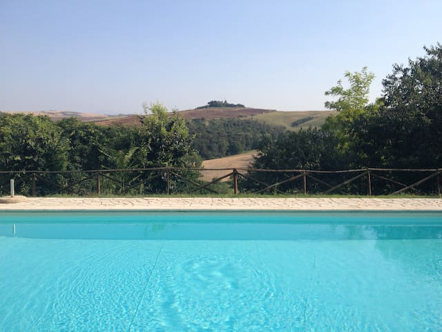 Relax, swimming pool and...Crete Senesi!