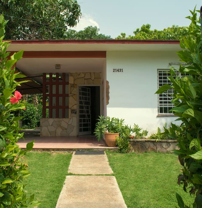 Esta es la entrada principal de la casa.